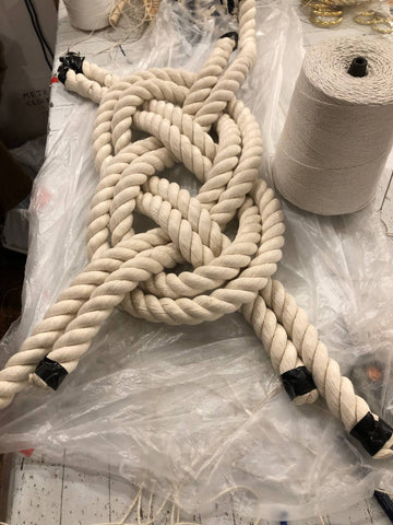 Doubled Figure 8 Knot in one inch cotton