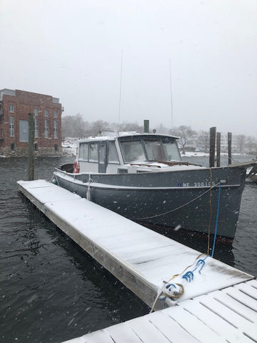 A snow day on the Mystic River