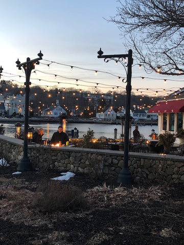 outdoor winter dining at S&P Oyster in Mystic