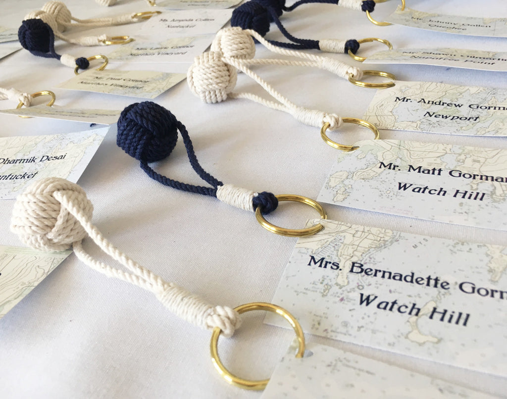 Nautical Monkey Fist Wedding Favors