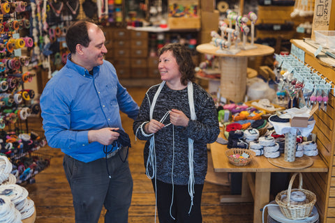 Matt and Jill owners of Mystic Knotwork rope shop