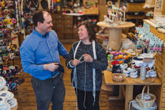 Matt Beaudoin and Jill Beaudoin at Mystic Knotwork in downtown Mystic, CT