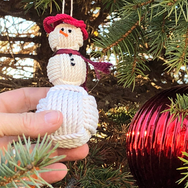 Nautical Snowman with a red hat