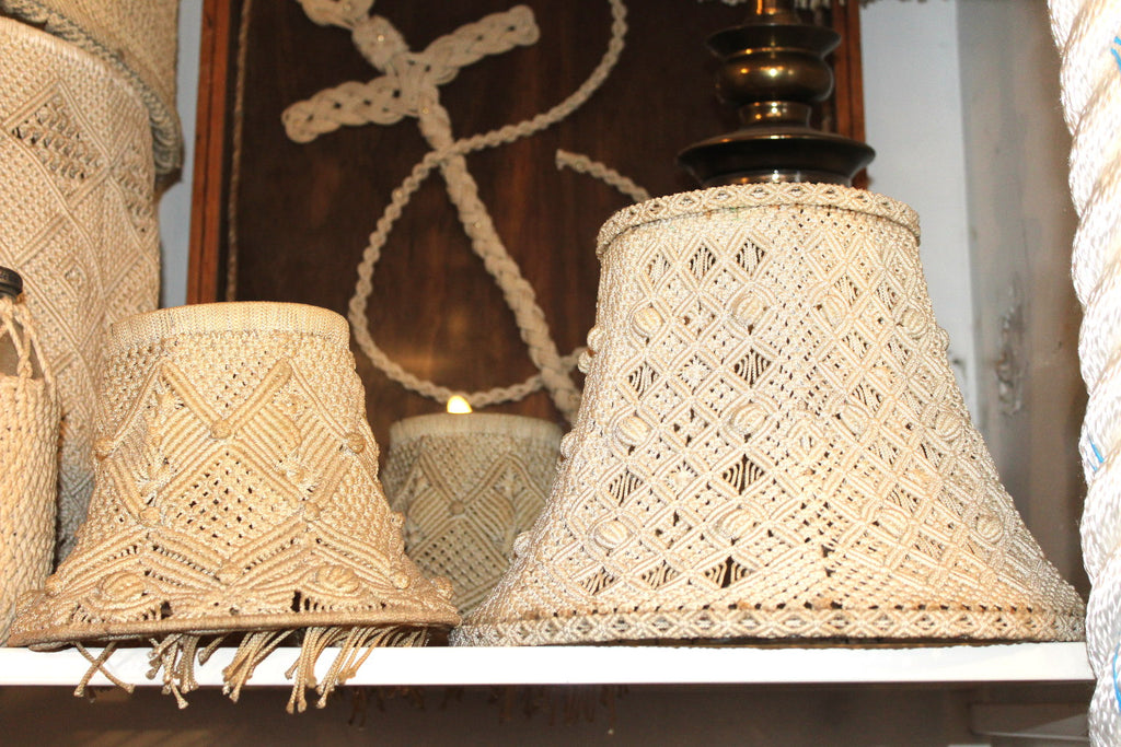 Nautical Knot Macrame lampshades by Alton Beaudoin