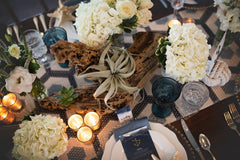 Nautical Wedding tablescape at Sugar Valley by Ashley Fox Photography