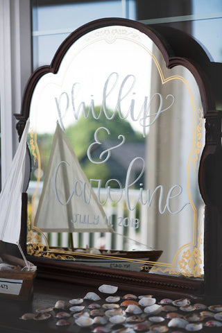 Nautical Wedding Mirror detail at Sugar Valley by Ashley Fox Photography