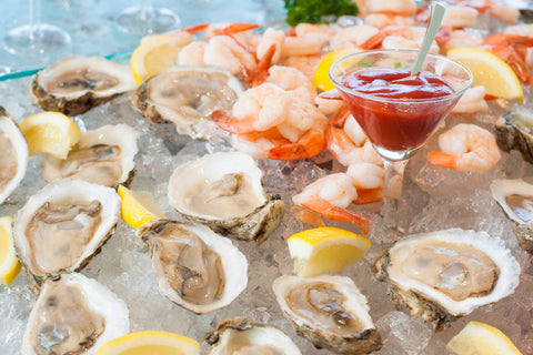Nautical Wedding Raw Bar at Sugar Valley Mark Garber Photography