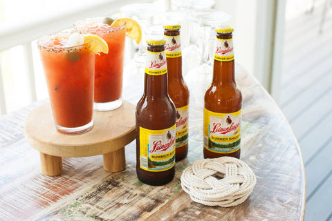 Nautical Wedding Reception Table Bloody Marys at Sugar Valley Mark Garber Photography