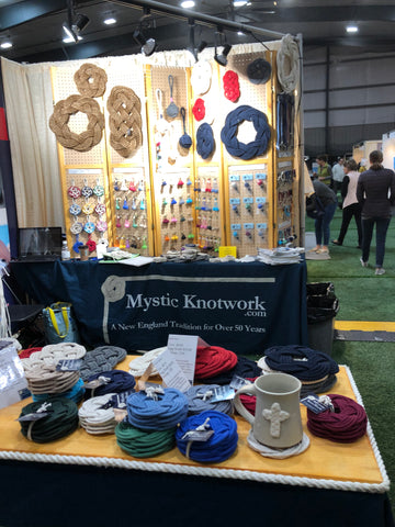 setting up at the New England Made Show
