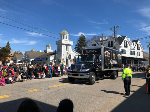 Guinness truck at the Mystic Irish Parade