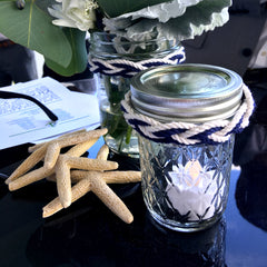 Starfish and tea light for nautical wedding