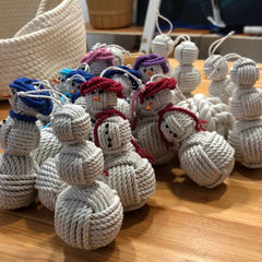 Army of Snowman Nautical Monkey Fist Christmas