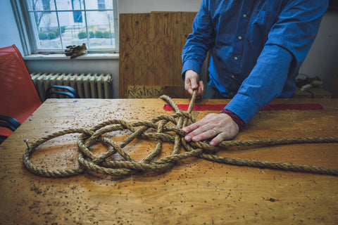 Making a nautical door mat weave Prolonged Mat