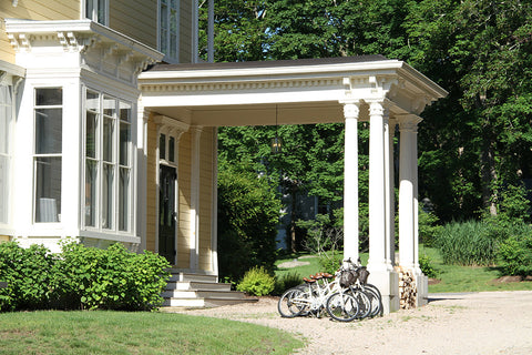 Bikes for guests at the Spicer Mansion