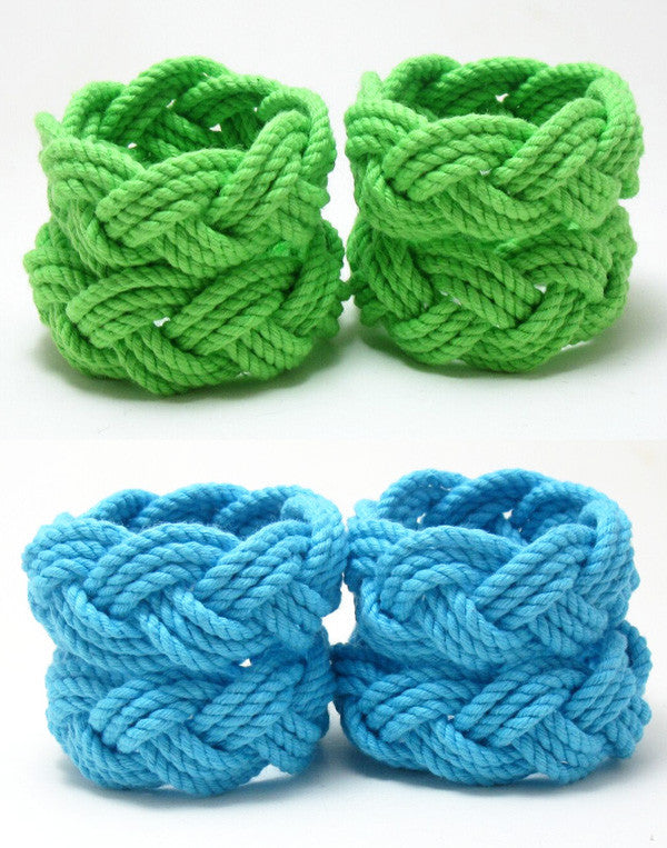 Sailor Knot Napkin Rings - Bright Colors