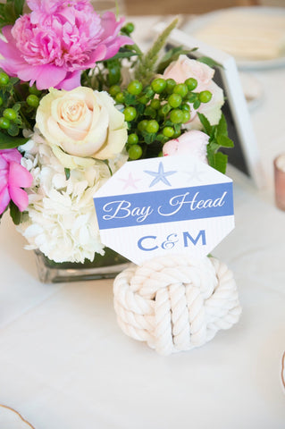 Nautical  wedding knot Bay Head New Jersey