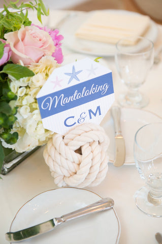 table number holders nautical style  centerpiece