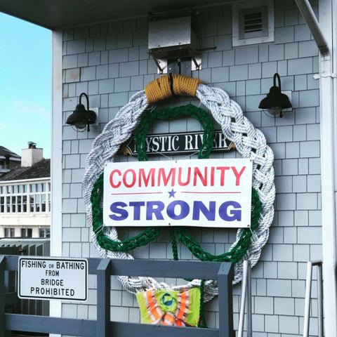 community strong on the Mystic River Drawbridge