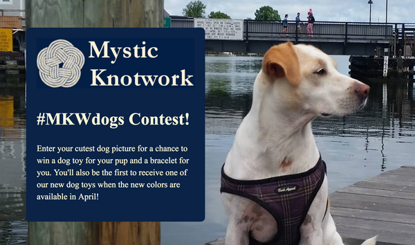 Win handmade dog toys! Mystic Knotwork Cute Dog Contest