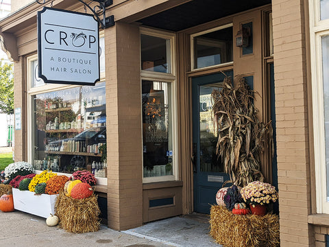 Hair Salon Crop and their outdoor fall display