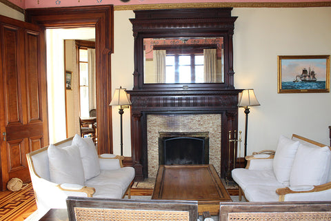 Fireplace at the Spicer Mansion