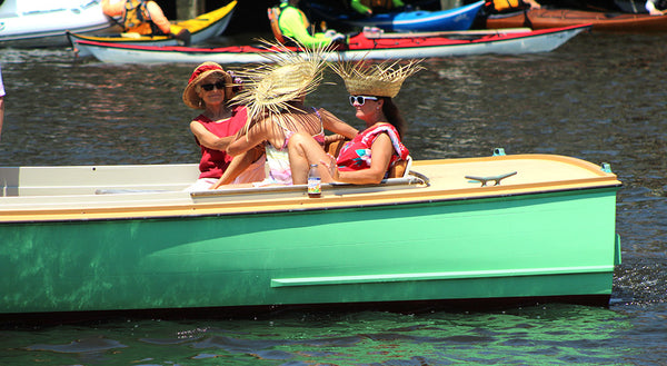 fun at the antique boat parade in Mystic Ct