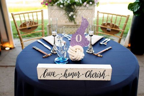 nautical sweetheart table