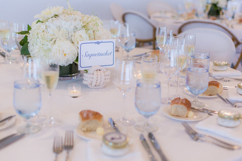 inspiration for nautical reception table