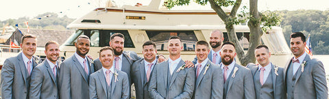 the grooms men and their boutonnieres