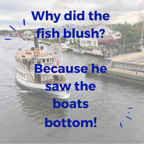 why did the fish blush? He saw the boats bottom