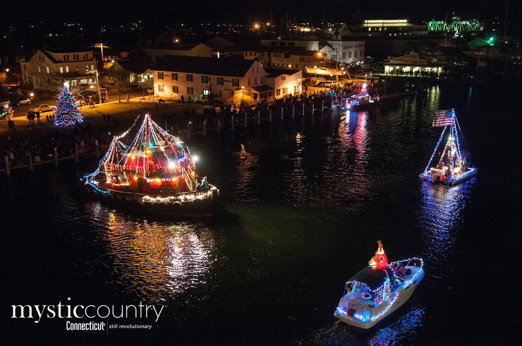 Mystic Boat Parade courtesy Mystic Country Eastern Regional Tourism District Connecticut