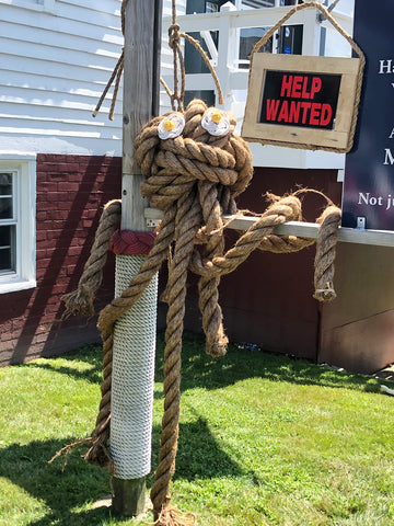 Mystic Knotwork ties giant octopus in Mystic Connecticut