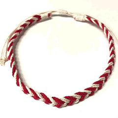 Red and White Chevron necklace Mystic Knotwork