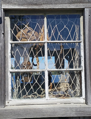 Window of rope shed in Mystic Connecticut