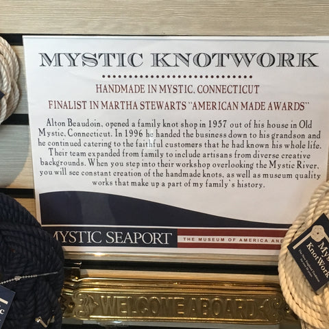 Mystic Knotwork knots available at the Seaport!