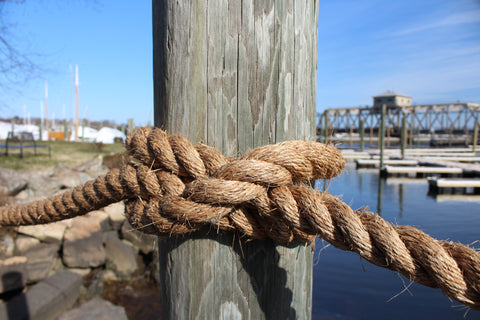 when you get to the end of your rope, tie a knot and hang on