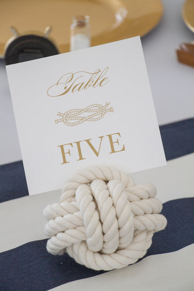 Nautical Weddings Table Number