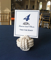 wedding knot table card holder