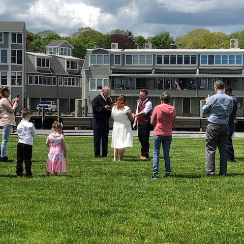 wedding on the mystic river park green