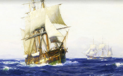 whaling ship painting