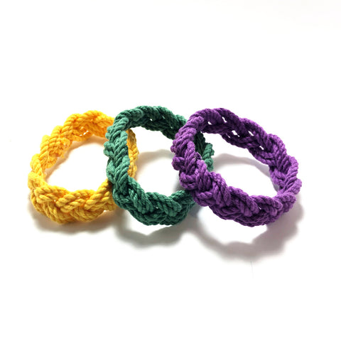 colorful narrow sailor knot bracelets