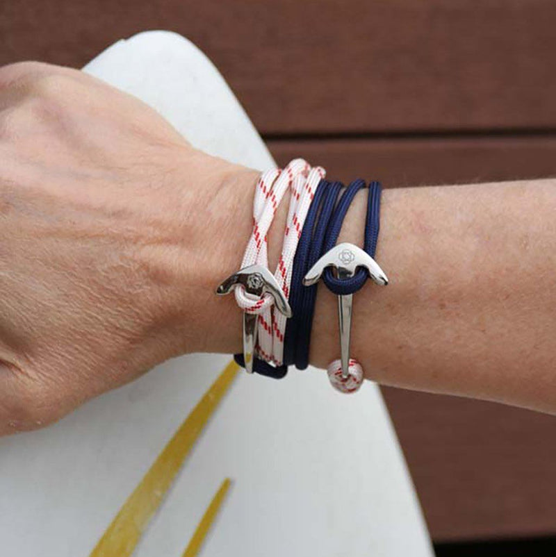 Navy Blue Adjustable Anchor Wrap Use as a Bracelet,Anklet,or Necklace 020