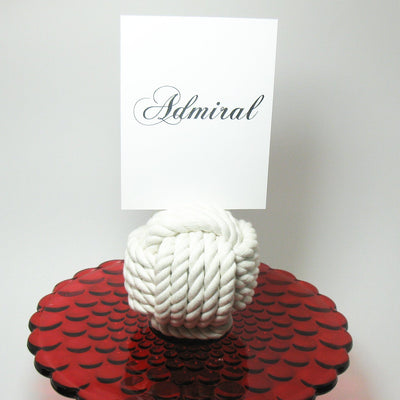 "Nautical Knot Nautical Knot Card Holder, White, 4.5"", 5-Pass handmade at Mystic Knotwork"