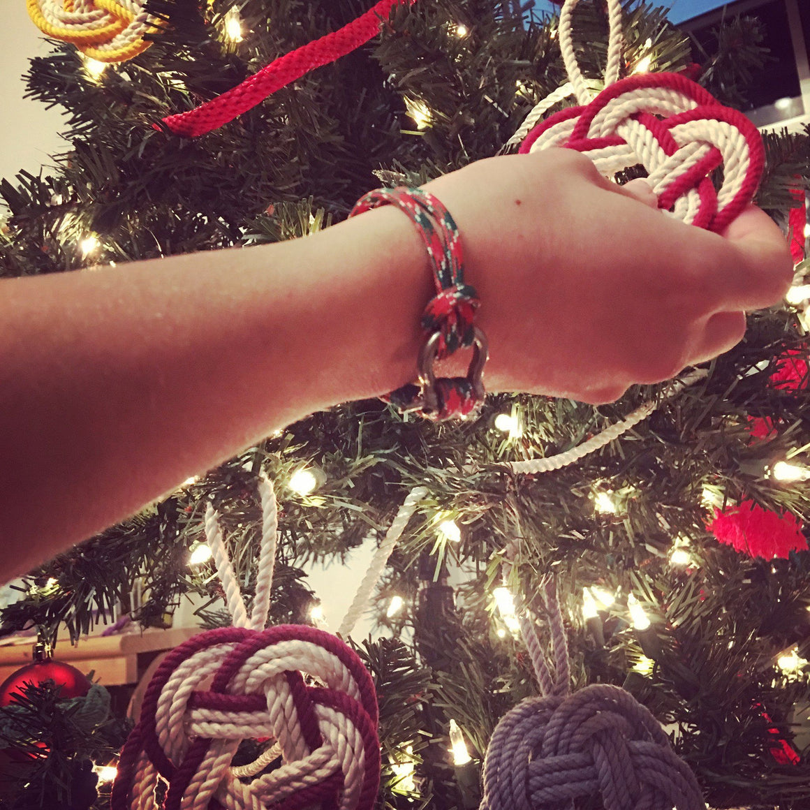 Limited Edition Christmas Shackle Bracelet - Mystic Knotwork  - 4