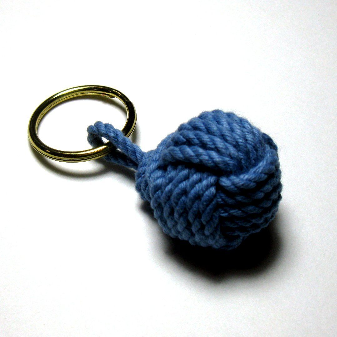 Nautical Monkey Fist Key Chain, Modern, Choose from 18 colors Handmade sailor knot American Made in Mystic, CT $ 6.95