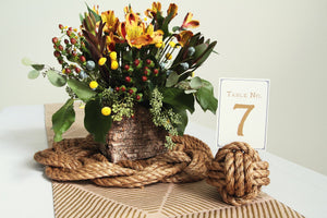 Nautical Wreath Centerpiece in Manila