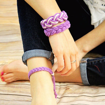Adjustable Woven Anklet, Choose from 17 Colors