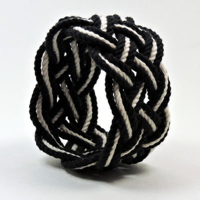 Nautical Knot Wide Striped Sailor Knot Bracelet 18 Colors handmade at Mystic Knotwork