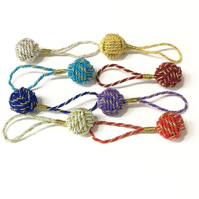 Nautical Christmas Ball Ornament Metallic Monkey Fist