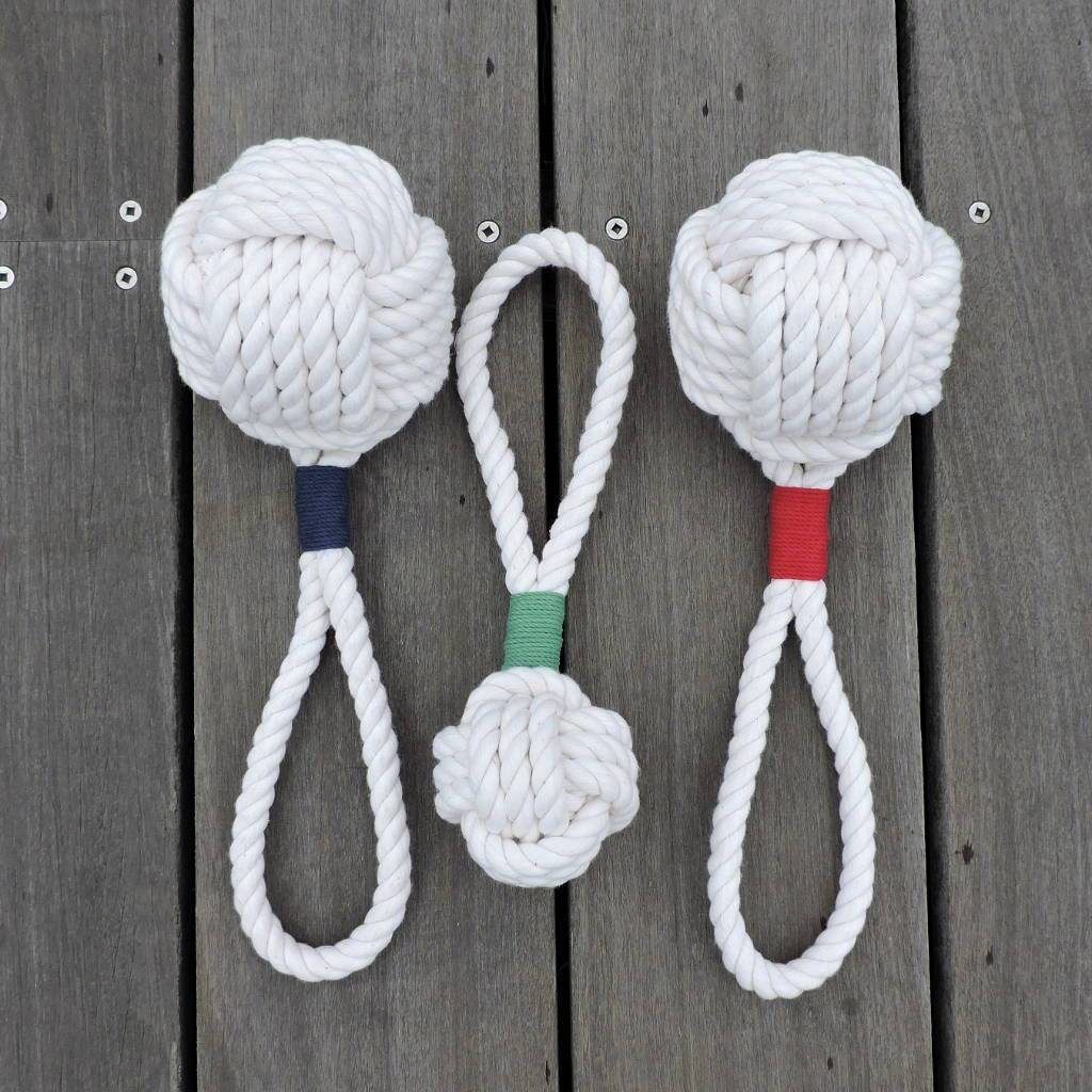 Monkey Fist Rope Dog Toy - Mystic Knotwork nautical knot